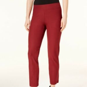Eileen Fisher Deep Claret Stretch Crepe Ankle Pant